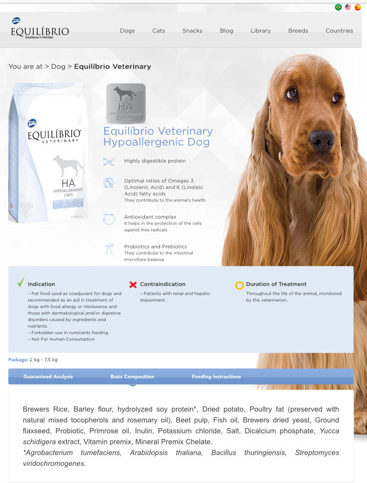 Hi Vet Has Recommended A Hypoallergenic Dog Food I M In Doubt Between Those Two Any Help Equilibrio Is A Little Bit More Petcoach